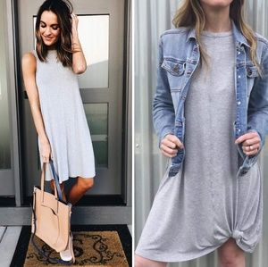 Dresses & Skirts - Casual womens flare knit sleeveless summer dress